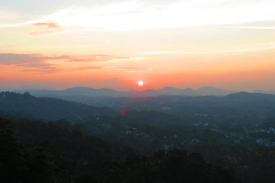 The Richmond House Kandy: sunset from our balcony