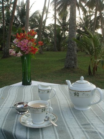 Chitra Ayurveda: Afternoon tea table