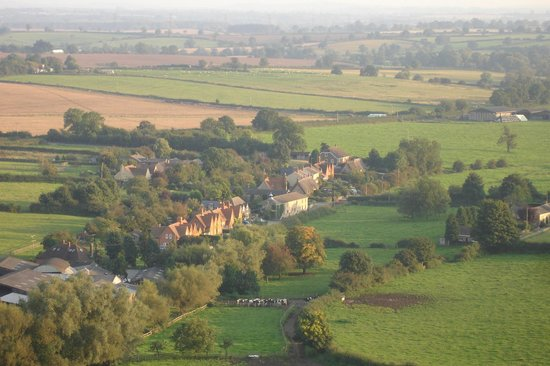 The Gables Bed and Breakfast: The whole village from the sky.