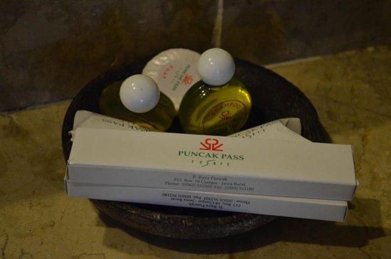Puncak Pass Resort: Toiletries