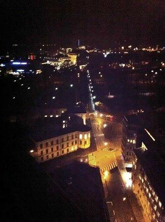 Radisson Blu Scandinavia Hotel: View from hotel room at night