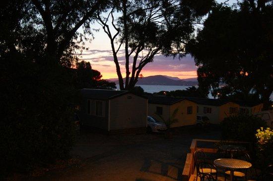Camping Clair de Lune : coucher de soleil au camping