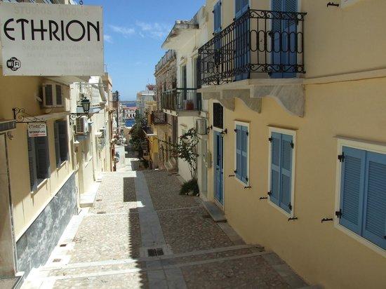 Hotel Ethrion: Entrance to Ethrion