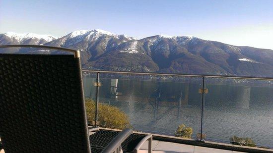 Hotel Collinetta : Aussicht vom Zimmerbalkon auf den Lago Maggiore 1