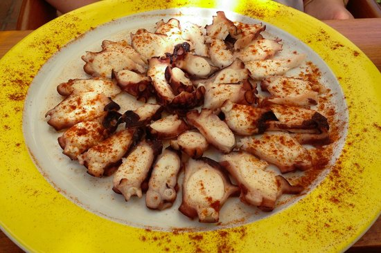 Seaside Palm Beach: Lunch - grilled octopus
