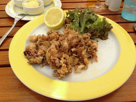 Seaside Palm Beach: Lunch - baby squids, deep fried