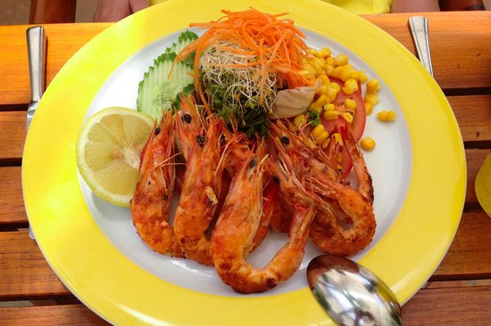 Seaside Palm Beach: Lunch - grilled prawns
