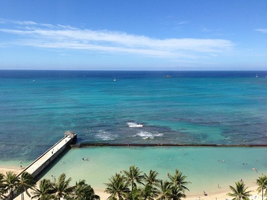 Park Shore Waikiki : View from the lanai in room 1608