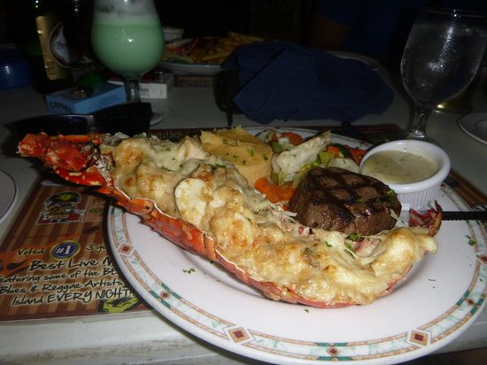 Pineapple Pete: Surf & Turf (Lobster Thermidor and Filet Mignon)