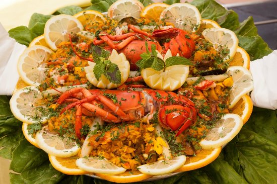 Seaside Palm Beach: Lunch - paella with lobster