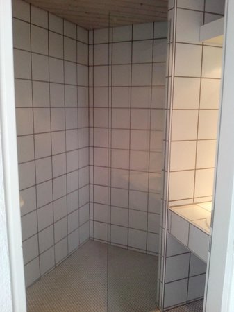 Hotel L'Auberge: The shower cubicle