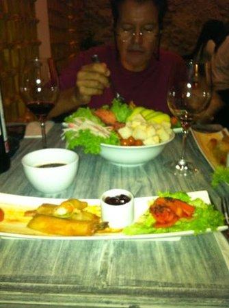Restaurante Mok by Fuad Akel: Salada Asiatica com vinagrete de amoras