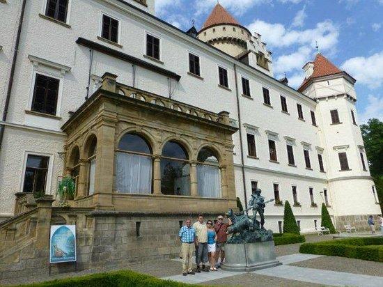 Konopiste Castle: outside the main building, near the gardens