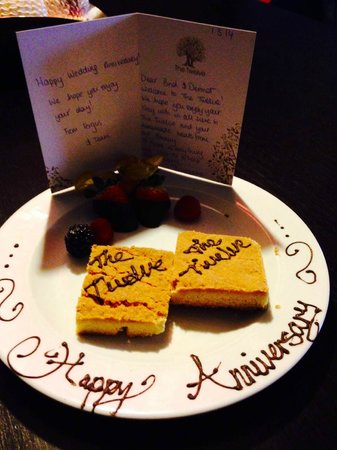 The Twelve Hotel : Welcome treat and card - lovely touch!