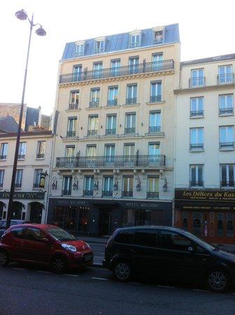 Hotel Waldorf Montparnasse : la facade de l'hotel