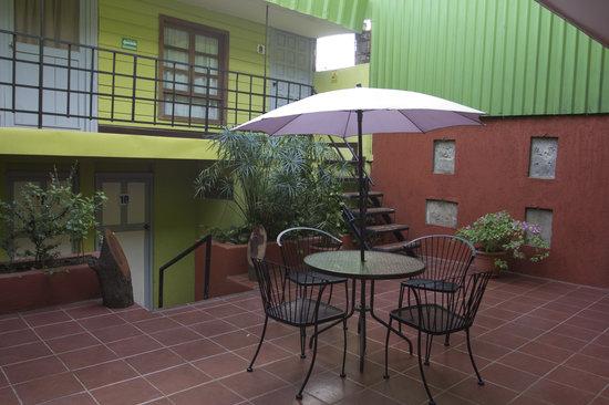 Hostal La Casa de los Abuelos: Backyard
