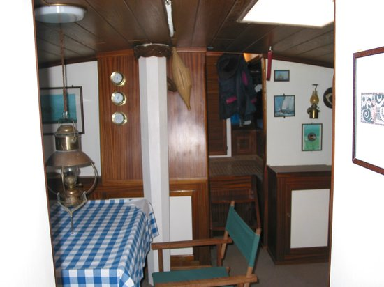 "Fiddler's Green: Dining Room and Main Saloon aboard ""ATAIR"""