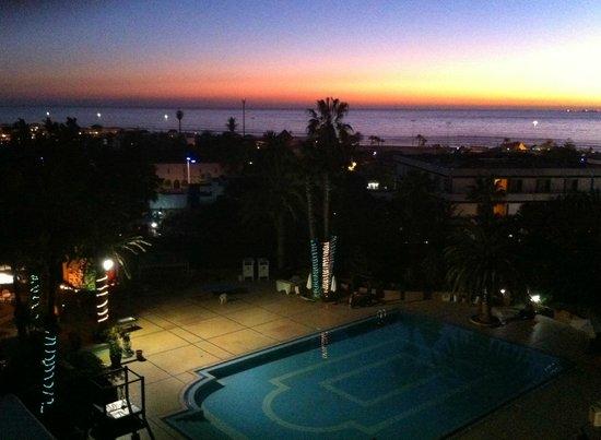 Hotel Argana : Sunset from 4th floor balcony