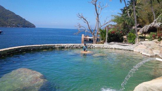 Hotel Lagunita: Amazing water feature