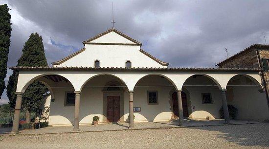 Panzano in Chianti, Italien: Esterno della Chiesa di San Leolino