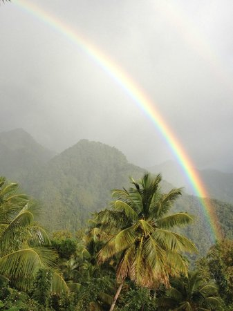 Crystals St Lucia: Rainbow, as seen off the deck