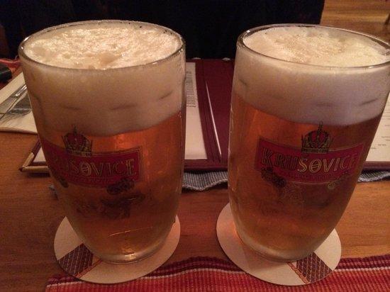 Koliba Restaurant: Krusovice beer