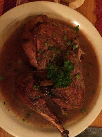 Koliba Restaurant: pheasant with mushroom sauce
