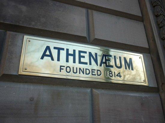 Athenaeum of Philadelphia: Athenaeum Sign