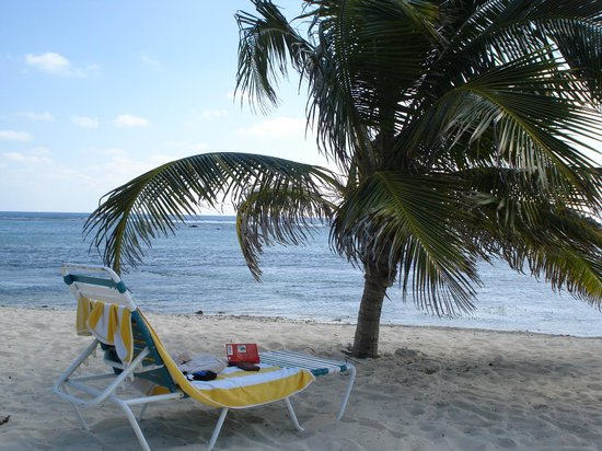 View of Caribbean Sea from beach at Turtle Nest Inn