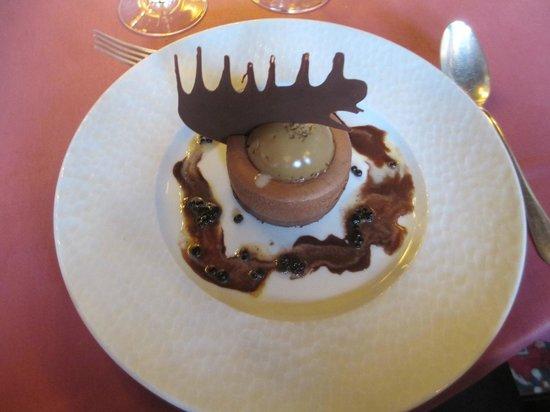 Restaurant La Couronne: déssert chocolat café, 20/20