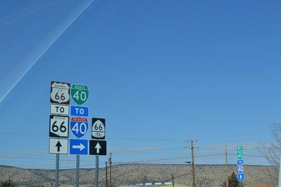 Route 66 : Carteles en la ruta