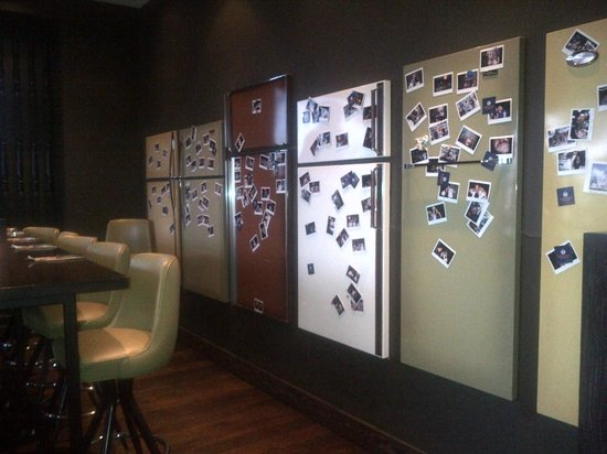 Orrange Kitchen And Bar : Fridge Feature Wall