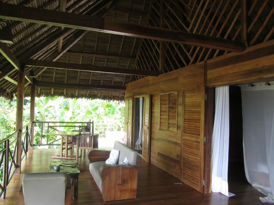 Tsara Komba Luxury Beach Forest Lodge : notre terrasse magnifique