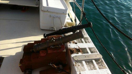 Schooner Jolly II Rover : Cannons