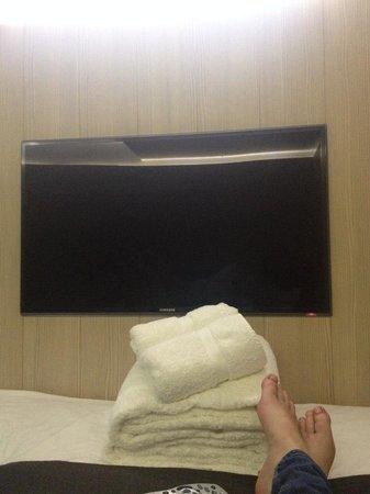 The Z Hotel Soho: lovely big tv