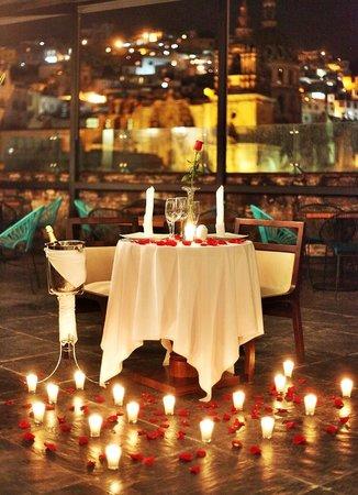 Foto de edelmira hotel boutique guanajuato cena - Detalles para cena romantica ...
