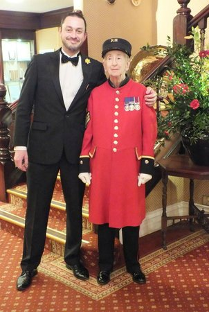 The Imperial Hotel: Martin Feldgate with SSgt Bimbo Coleman in the Reception area