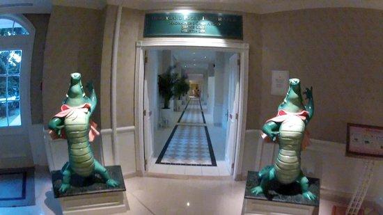 Disneyland Hotel: Entrée du centre piscine