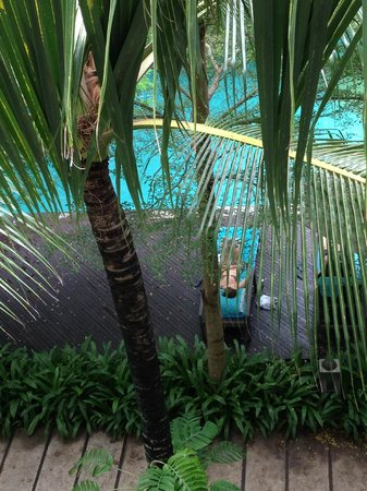 Courtyard by Marriott Bali Nusa Dua Resort : Pool and garden view from balcony