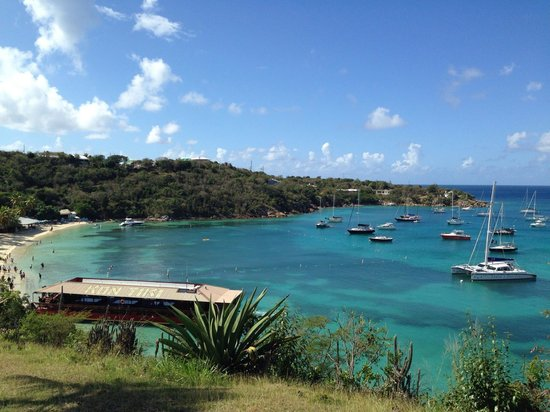 Virgin Islands Campground: View of Honeymoon beach, just down the street