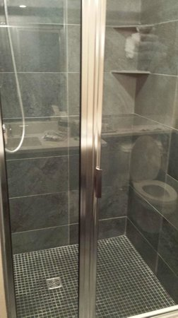 Harborside Inn: Walk in shower
