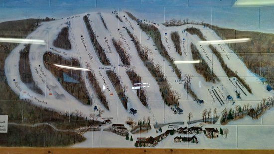 Alpine Valley Resort: Painting of train map