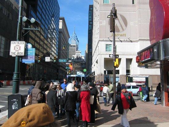 Philadelphia Marriott Downtown: view from Market St