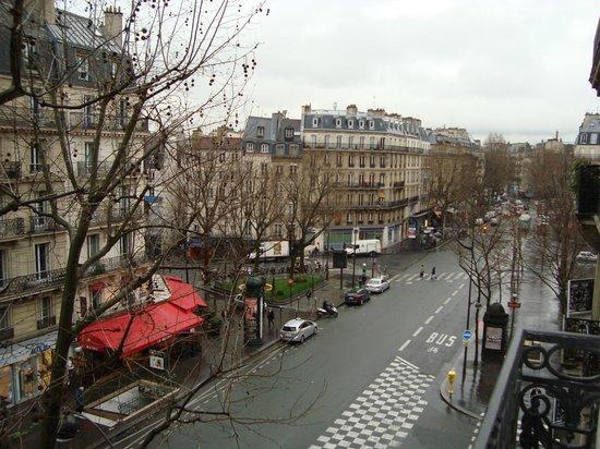 Hotel Studia: vista desde el balcón de la habitación