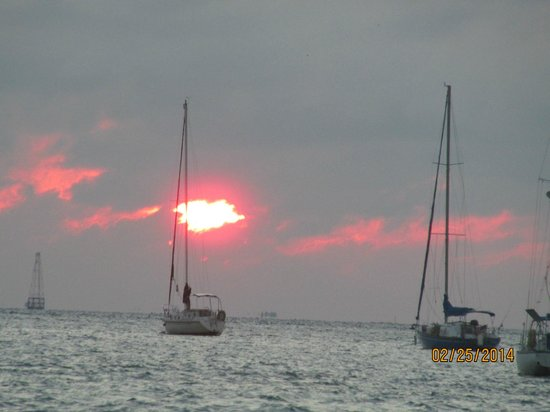 Fury Water Adventures Key West: sunset from the Fury