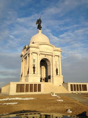 Parque Militar Nacional de Gettysburg: Pennsylvania Memorial - largest in park