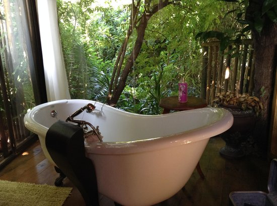 Anna's Country Accommodation: Free standing bath