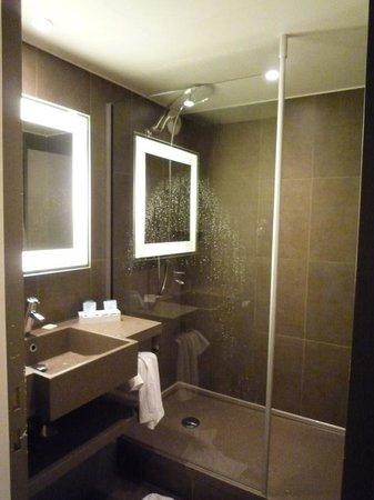 Novotel Gent Centrum: La salle de douche, très petite