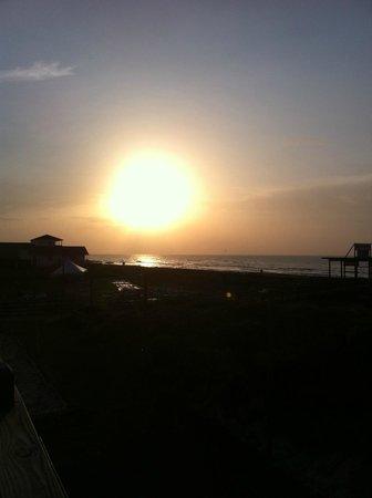 Surfside Beach : Sunrise from the deck at Beachfront RV Resort