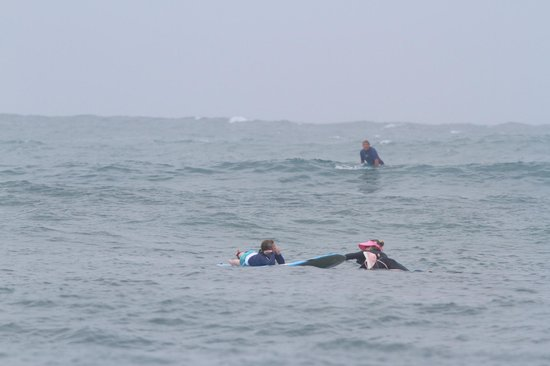 North Shore Surf Girls - Surf School : In water instruction time....